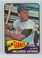 1965 Topps Baseball 360 Orlando Cepeda San Francisco Giants Excellent to Excellent Plus