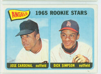 1965 Topps Baseball 374 Angels Rookies High Number Excellent to Excellent Plus