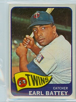 1965 Topps Baseball 490 Earl Battey High Number Minnesota Twins Excellent to Excellent Plus
