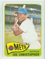 1965 Topps Baseball 495 Joe Christopher High Number New York Mets Excellent to Excellent Plus