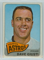 1965 Topps Baseball 524 Dave Giusti High Number Single Print Houston Astros Excellent to Excellent Plus