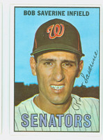 1967 Topps Baseball 27 Bob Saverine Washington Senators Excellent to Mint