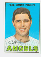 1967 Topps Baseball 34 Pete Cimino California Angels Excellent to Mint