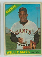 1966 Topps Baseball 1 Willie Mays San Francisco Giants Fair to Good