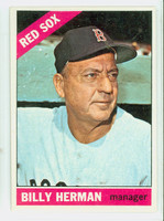 1966 Topps Baseball 37 Billy Herman Boston Red Sox Excellent to Excellent Plus