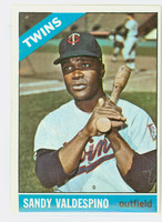 1966 Topps Baseball 56 Sandy Valdespino Minnesota Twins Excellent to Excellent Plus