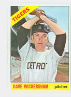 1966 Topps Baseball 58 Dave Wickersham Detroit Tigers Excellent