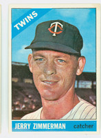 1966 Topps Baseball 73 Jerry Zimmerman Minnesota Twins Excellent to Excellent Plus