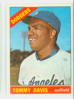 1966 Topps Baseball 75 Tommy Davis Los Angeles Dodgers Excellent to Excellent Plus