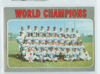 1970 Topps Baseball 1 Mets Team Very Good