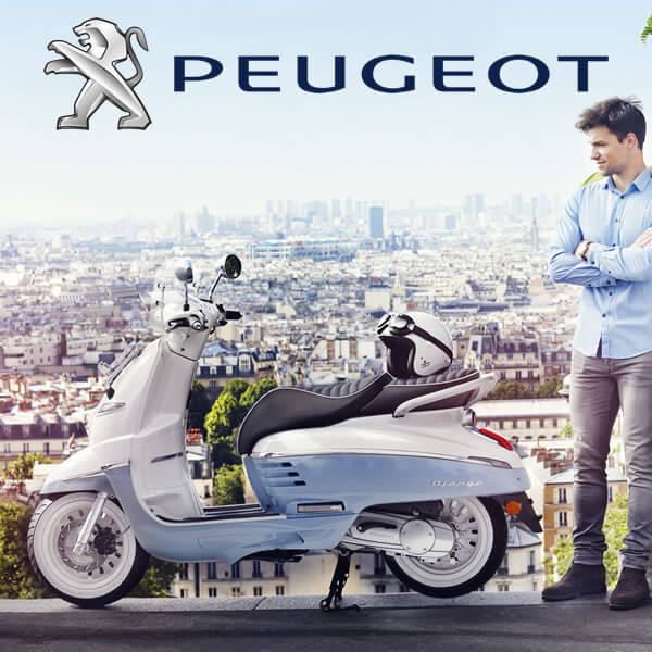 We sell Peugeot Scooters