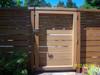 Moda Contemporary Gate Latch with Tigerwood Handle
