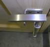 """18"""" Marine Grade 316 Brushed Stainless Steel Contemporary Cane Bolt"""
