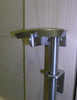 """36"""" Marine Grade 316 Brushed Stainless Steel Contemporary Cane Bolt"""