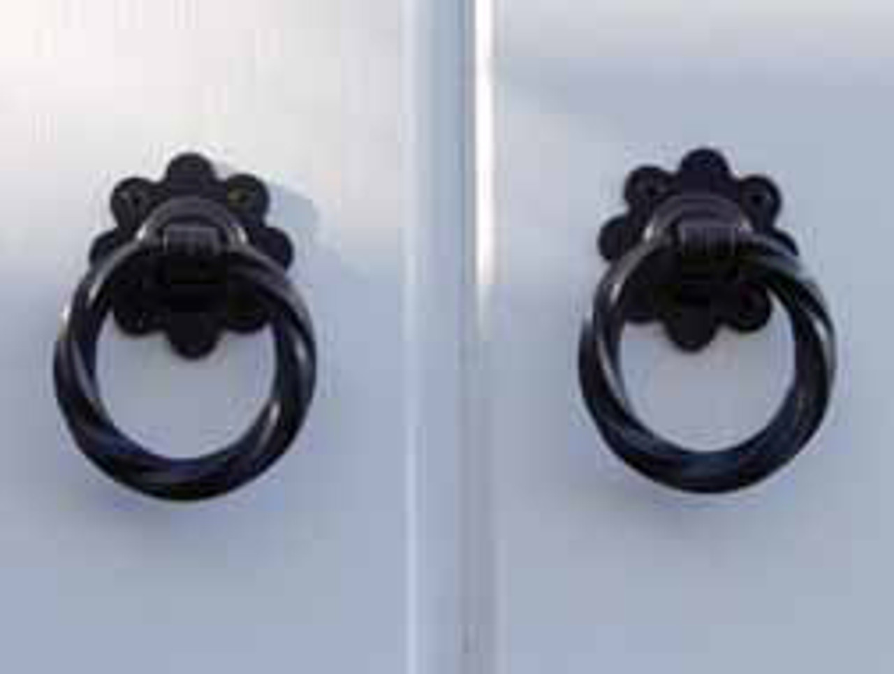 Twisted Ring Black Gate Latch Package For Double Gates
