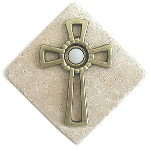 Celtic Cross Doorbell Button in Multiple Finishes