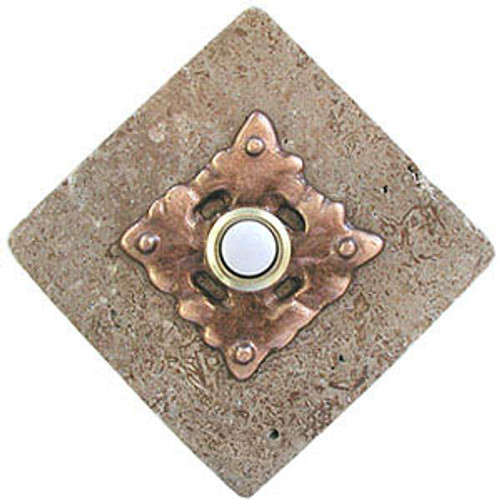Clavos Doorbell Button on Stone