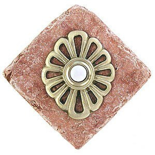 Flower Design Doorbell Button on stone