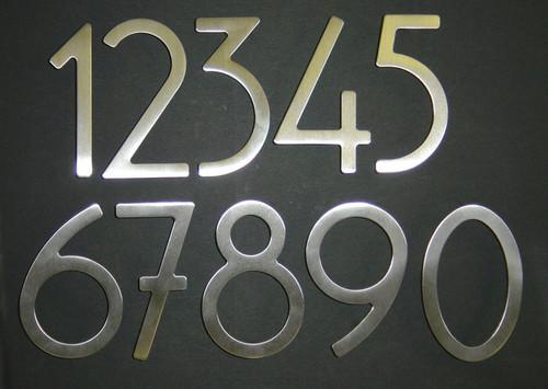 Self-Adhesive Stainless Steel Door Numbers & Letters - 360 Yardware
