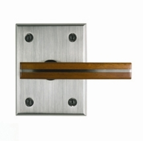 Moda Contemporary Gate Latch With Tigerwood Handle 360