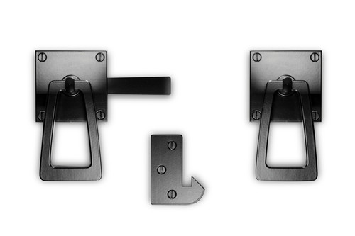 Modern Gate Hardware Package (Double Gates) with Tapered Ring