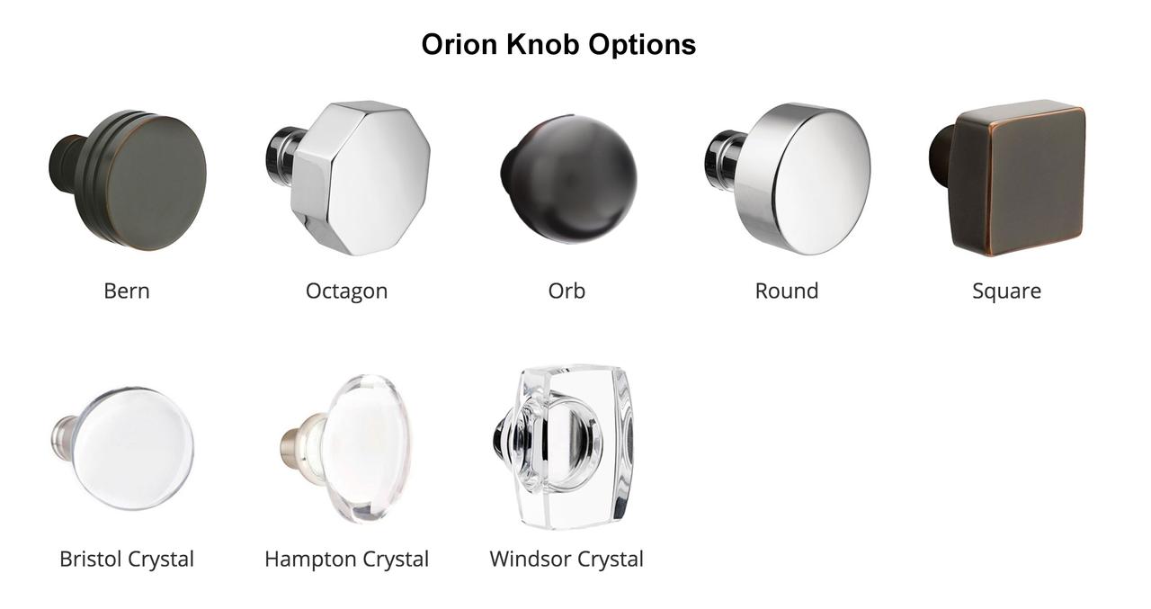 2) Choose Knob Or Lever For Inside Trim:
