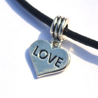 LOVE Heart Dangle Bead