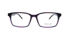 Purple/Forest Green Tiger Stripe Front (C3)