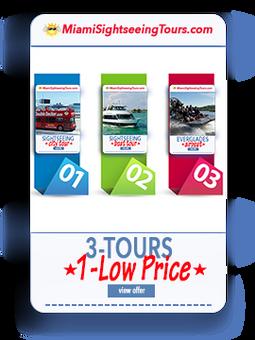 3 IN 1 Super Saver Bus Tour + Boat Tour + Everglades