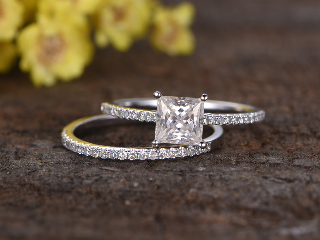 Princess Cut Diamond Ring Settings