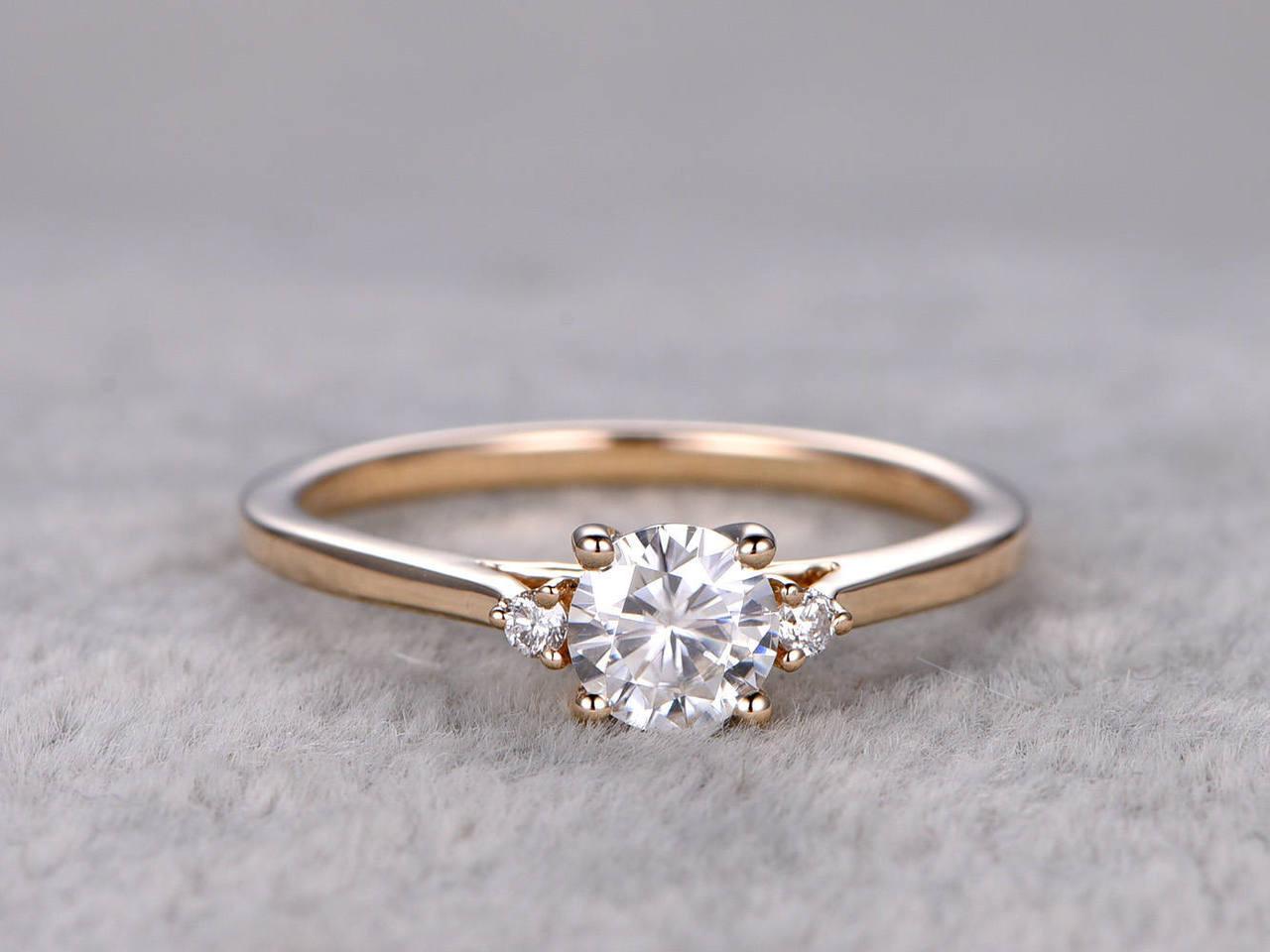 K White Gold Diamond Promise Ring