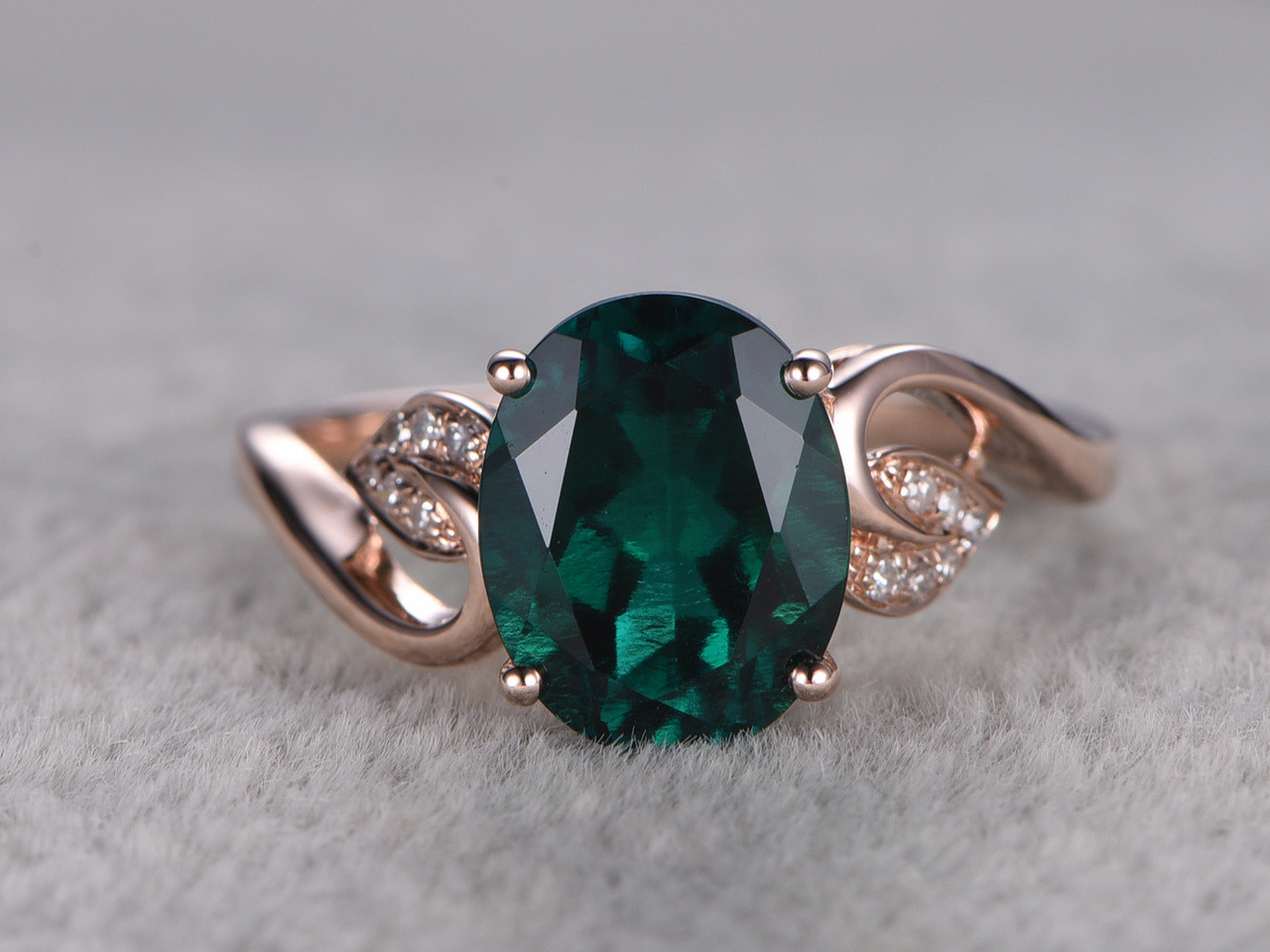 1 8 Carat Emerald Diamond Engagement Ring Vintage Promise