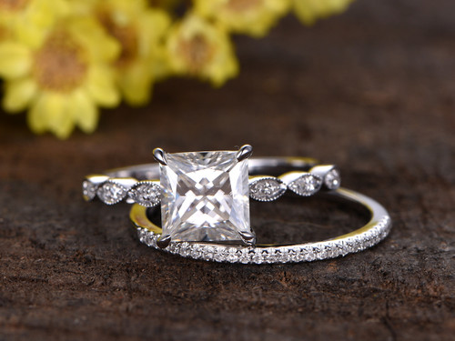 Princess Cut Diamond Ring Band