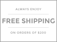 Free Shipping on orders of $200
