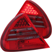 ANZO 1999-2002 Mitsubishi Mirage LED Taillights Red/Smoke