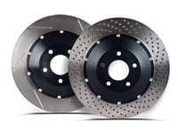 StopTech 09-11 Nissan GT-R Front Left Drilled Bare Iron 380x34mm Aero-Rotor Kit