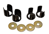 Energy Suspension 89-94 Nissan 240SX S13 Black Rear Subframe Insert Set - a supplement to the subf