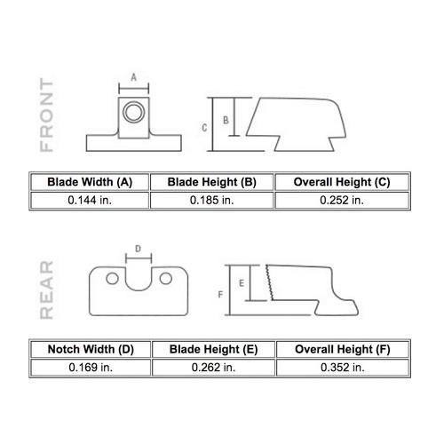 Trijicon HD Night Sights - M&P Shield