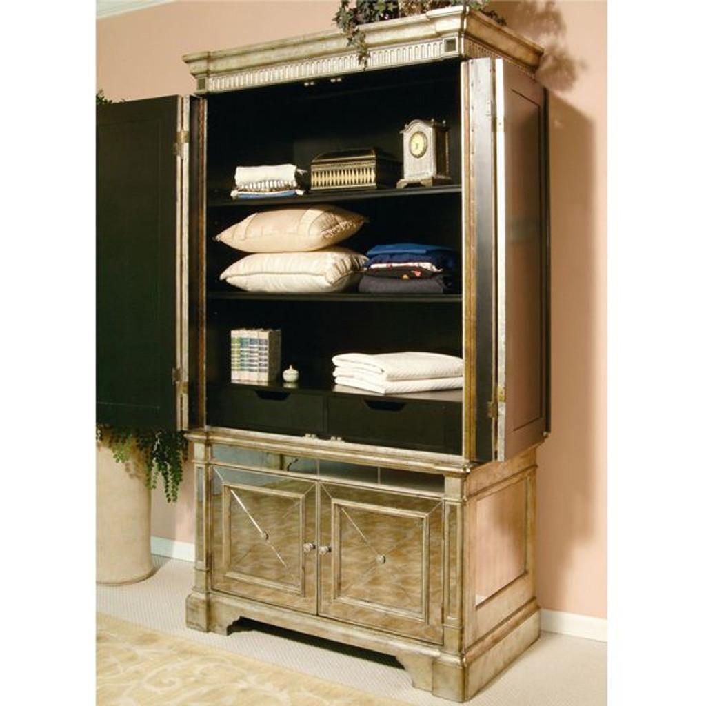 Antique Mirrored Armoire / TV Cabinet - Mirrored Antique Furniture