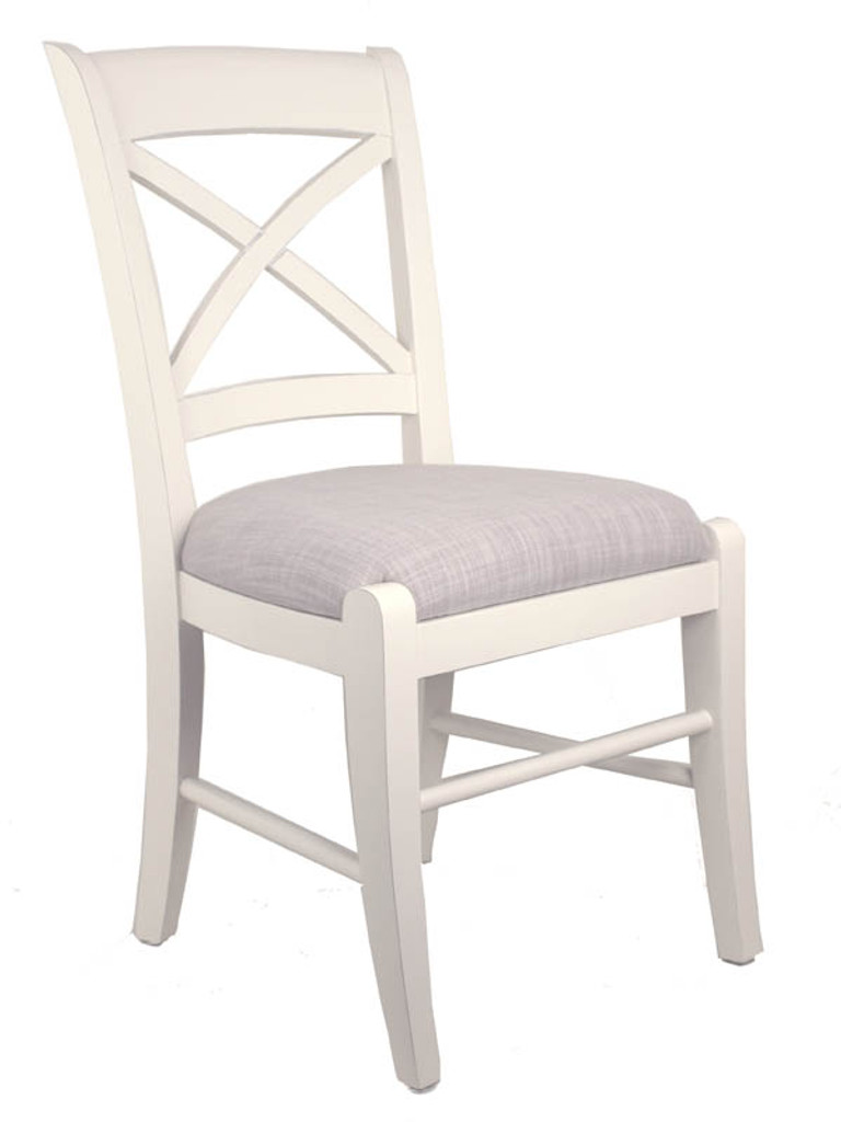 Cross Back Dining Chair - A/Cream + Bisque