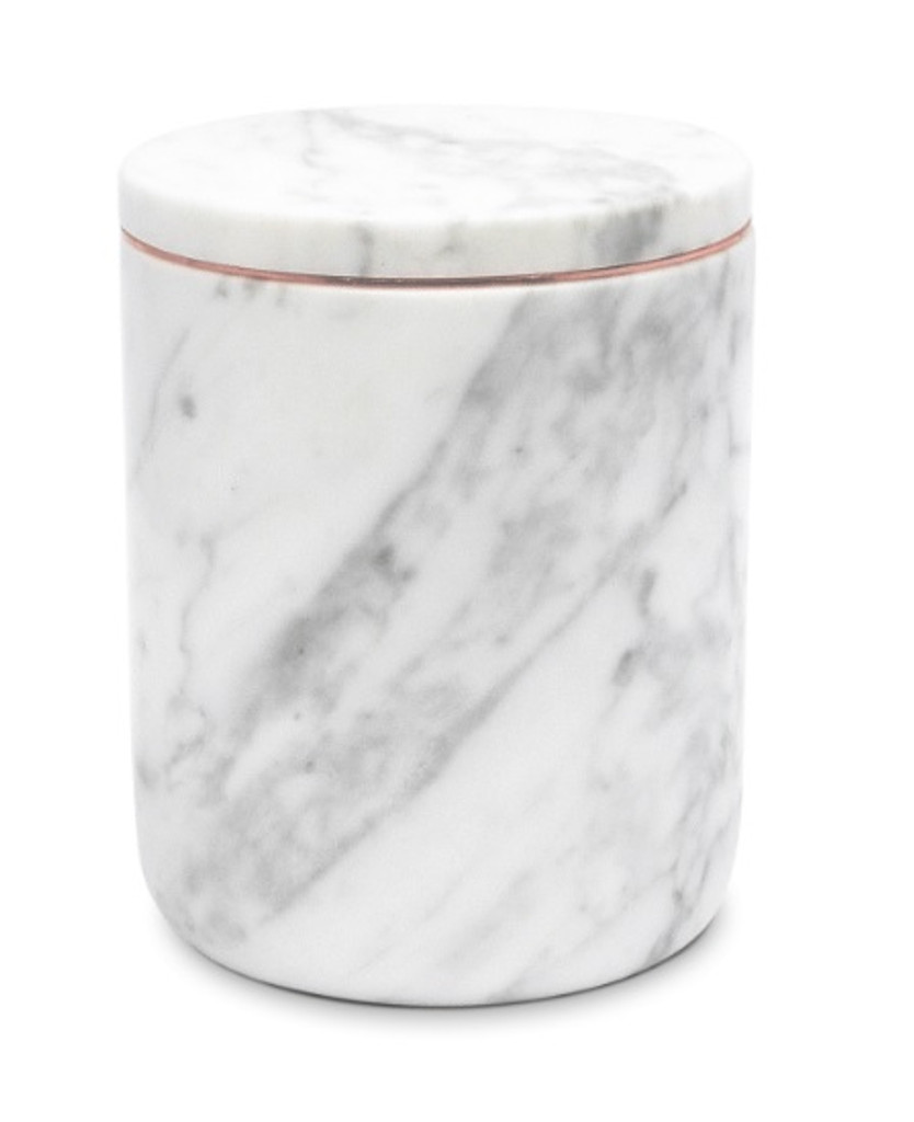 The Luxuriate Carrara Marble Candle Vessel