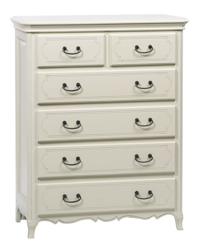 Chateau TallBoy Chest of Drawers - A/Cream