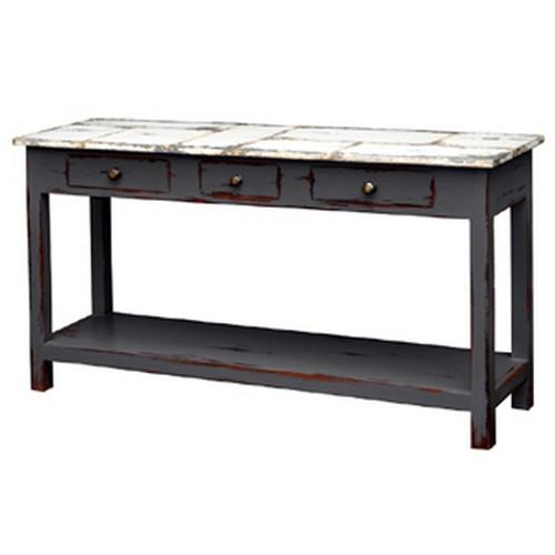 Tinsmith Sofa Table - Slate Heavy Distressed /TAW