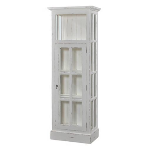 Cape Cod Bookcase w/ Doors - White Heavy Distressed