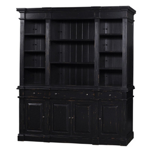 Roosevelt Estate Bookcase - Black Light Distressed