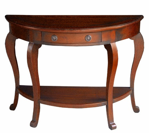 Cancan Curved-leg Console Table - Walnut