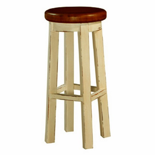 Classic Barstool - Butter Cream Light Distressed /AHM