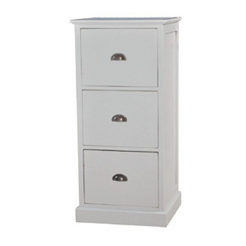 Filing Cabinet 3 Drawer  - Architectural White Light Distressed