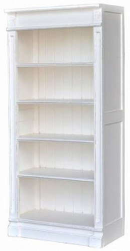 Roosevelt Bookcase Module 5 Shelf - White Light Distressed