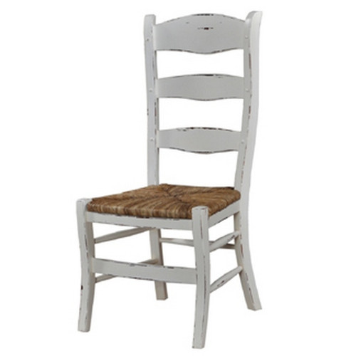 Peg & Dowel Ladder Back - White Heavy Distressed